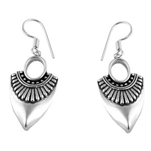925 Sterling Silver Traditional Design Oxidized Earring