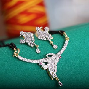 Fashion Unique Design Jewellery Gold Plated Peacock Mangalsutra