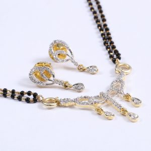 Gold Plated Traditional unique CZ Stone Mangalsutra