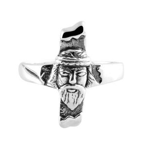 925 Sterling Silver Lord Christ Face Ring For Peaceful Life