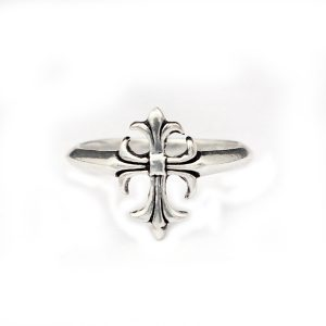 Fashion Silver Oxidized Plated Cross Patonce Ring Jewelry