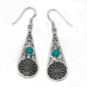 Turquoise Gemstone Dangle Drop Earring For Girl's and Women Earring Jewelry 925 Sterling Silver