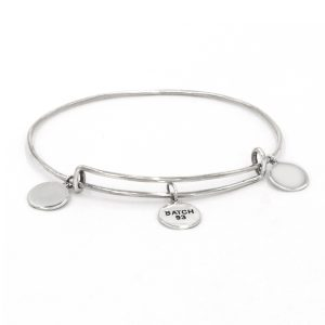 Custom Name Adjustable Bangle for Girls Personalized Name 925 Sterling Silver