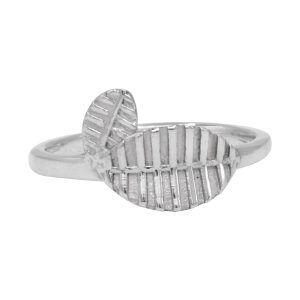 Leaf Design 925 Sterling Silver Ring Jewelry For Women Girls