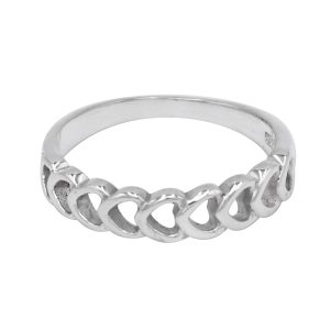 Chain Design Ring 925 Sterling Silver Jewelry