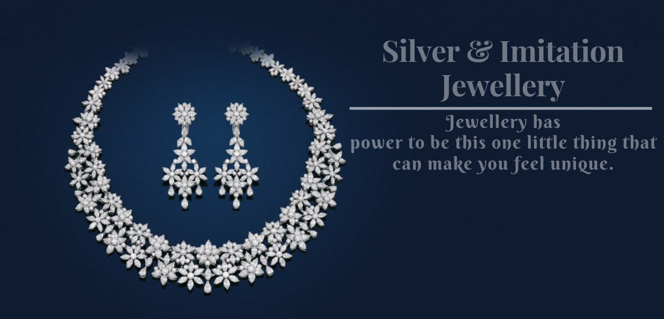 Silver and imitation jewellery