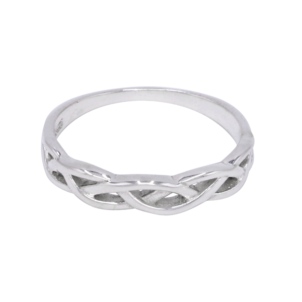 925 Sterling Silver Band Ring For Girls Women Jewelry-1