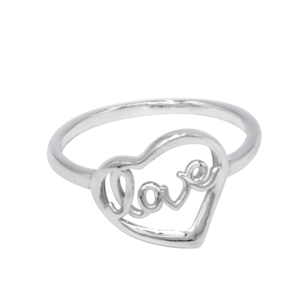 925 Sterling Silver Love In Heart For Valentine Jewelry
