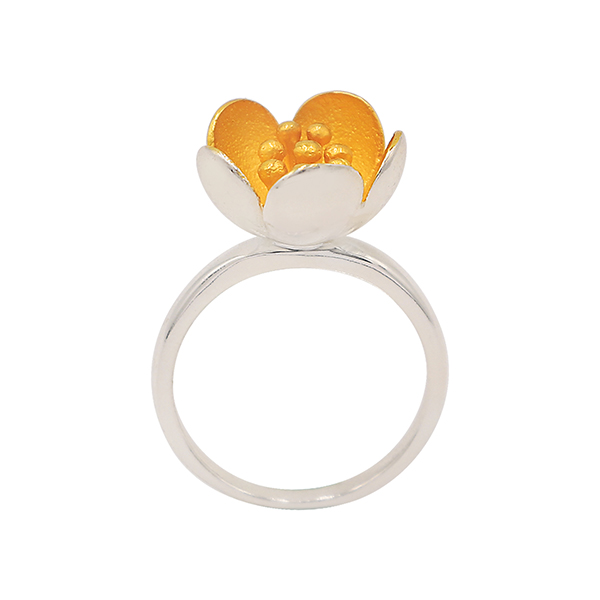 Fashion Flower Design Ring for Self Defence Jewelry Girls and Women