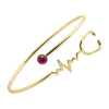 Heart Beat Gold look Stethoscope Cuff Bangle Medical Jewelry for Nurse Doctor-3