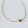 925 Sterling Silver Mini Golden Star Shape with Chain1