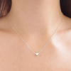 925 Sterling Silver Mini Heart Shape Beads Beautiful Simple Necklace For Girls Women