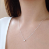 Gem O Sparkle 925 Sterling Silver Mini Star Shape Beads Beautiful Simple Necklace For Girls Women