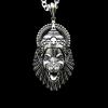 925 Sterling Silver Lord Laxmi Narasimha Swamy Oxidized Pendant for Men Boys