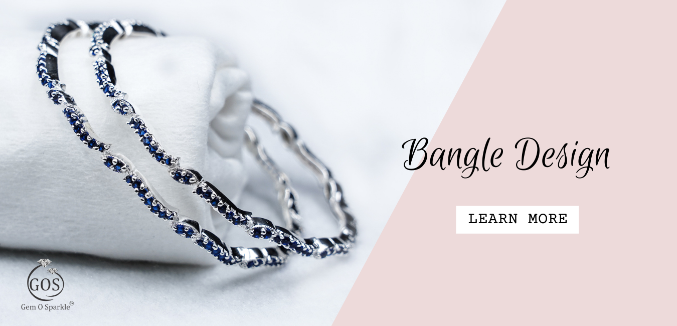 925 Sterling Silver | Single Line Studded Cubic Zirconia Bangle For Women Or Girls